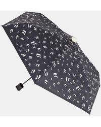 Karl Lagerfeld Parapluie manuel K/Ikonic Karl monogrammé - Noir