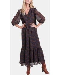 MAISON 123 Robe longue Claire imprimée - Multicolore