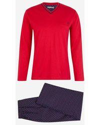 Mariner Pyjama fantaisie coton - Rouge