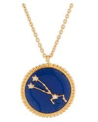 Les Nereides Collier Pendentif Signe Astrologique Taureau - Multicolore