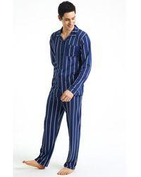 Arthur Pyjama Loycell Rayé Marine - Bleu