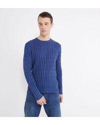 El Ganso Pull droit en coton torsadé - Bleu