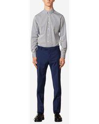 Sandro Pantalon de costume en laine - Bleu