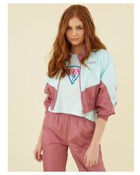 Guess COUPE-VENT COLOR BLOCK - Rose