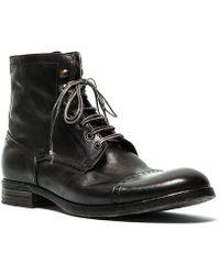 Pete Sorensen Boots rangers en cuir DETROIT - Noir