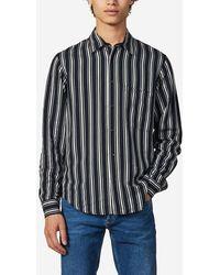 Sandro Chemise droite rayée - Bleu