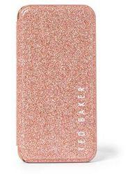Ted Baker Coque Kiiaa Glitter iPhone - Rose