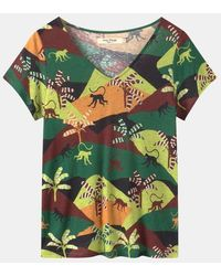 Nice Things T-shirt fluide Color Monkeys - Vert