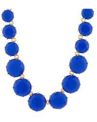 Les Nereides Collier Sautoir Pierres Rondes Bleu Roi La Diamantine