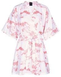 Lingerie LE CHAT Peignoir kimono imprimé 100% coton HARMATTAN 860 - Multicolore