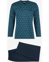 Mariner Pyjama en coton fantaisie - Bleu