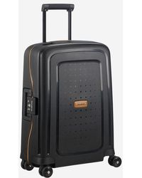 Samsonite Valise cabine rigide Spinner S'Cure Eco 4R 55 cm - Noir