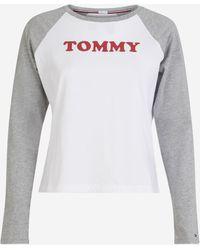 Longues T Signature Multicolore Raglan Manches Droit Shirt ZOkiuPTX