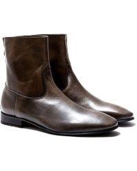 Pete Sorensen Boots en cuir vieilli MAC GILL - Marron