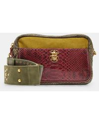 Claris Virot Sac besace Lily cuir python - Multicolore