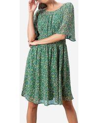 CAROLL Robe Tommy Fleurs - Vert