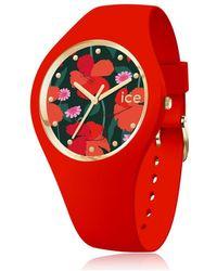 Ice-watch Montre Femme Ice Watch Ice Flower - Rouge