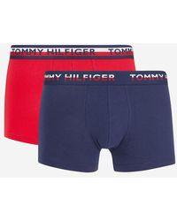 Tommy Hilfiger - Lot de 2 boxers uni et à imprimé - Lyst