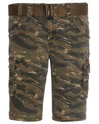 Schott Nyc - Short cargo print camouflage - Lyst