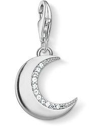 Thomas Sabo 2964 Pendentif Charm lune argent argent sterling 925 - Métallisé