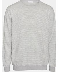 Knowledge Cotton Apparel Pull Classic Forrest rayé - Gris