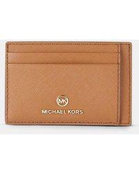 MICHAEL Michael Kors Porte-cartes Jet Set Charm cuir texturé - Neutre