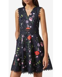 Ted Baker - Robe patineuse Mayo imprimé fleurs - Lyst