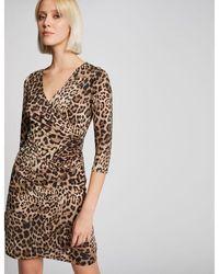Morgan - Robe ajustée imprimé léopard - Lyst