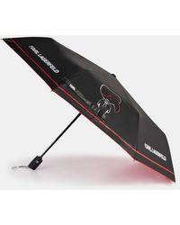 Karl Lagerfeld Parapluie automatique K/Ikonik graphique - Noir