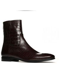 Pete Sorensen Boots en cuir MAC GILL CROCO - Noir