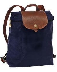 Longchamp Sac à dos Le Pliage - Bleu