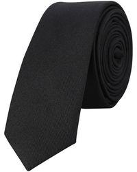 The Kooples Cravate en soie avec pin's guitare - Noir