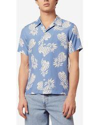 Sandro Chemise imprimée hawaïenne - Bleu