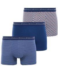 EMINENCE Lot de 3 boxers homme Business Print - Bleu