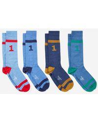 Hackett - Coffret de 4 paires de chaussettes hautes numéro 1 - Lyst