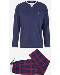 Mariner Pyjama à carreaux - Bleu