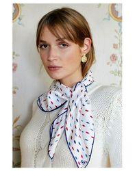 Soi Paris Carré de soie REINE ELISABETH - Multicolore