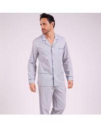 EMINENCE Pyjama long ouvert homme Héritage - Gris
