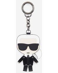 Karl Lagerfeld Porte-clés K/Ikonik cuir - Noir