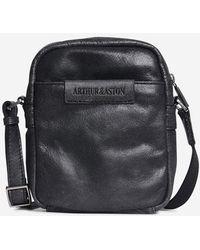 Arthur Et Aston Sacoche cuir porté croisé New - Noir