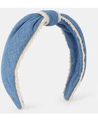 Alexandre De Paris Serre-tête guipure - Bleu