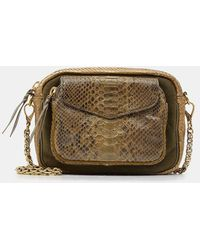 Claris Virot Sac besace Charly cuir python - Multicolore