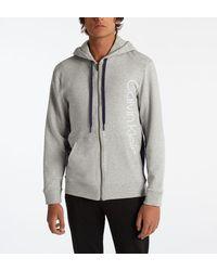 Calvin Klein - Hoodie d'intérieur molletonné zippé signature - Lyst