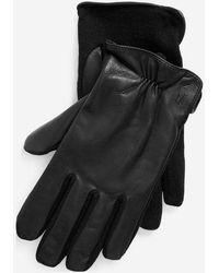 Polo Ralph Lauren Gants hybrides en cuir - Noir