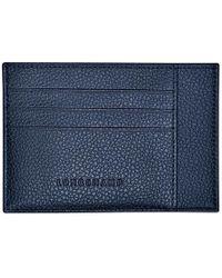 Longchamp Porte-cartes Le Foulonné - Bleu