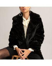 La Redoute Manteau imitation fourrure - Noir