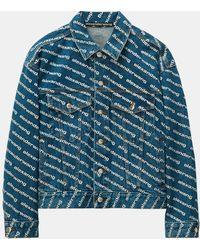 T By Alexander Wang Blouson jean logotypé coton - Bleu