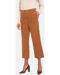MAISON 123 Pantalon flare Minako 7/8 - Marron