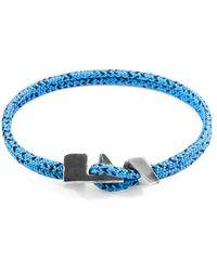 Anchor & Crew Bracelet Brixham Argent et Cordon - Bleu