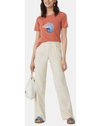 Nice Things T-shirt fluide Fish & Star en coton - Orange